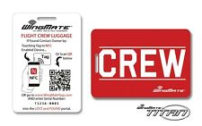 Airline CREW Luggage Tags! Smart Microchipped Flight Crew Tags. Pilot supplies.