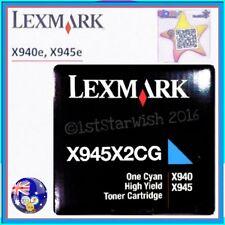 Genuine Lexmark X945X2CG High Yield CYAN TONER for X945e X940e Laser MFP