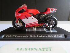 1/24 Ixo Ducati LORIS CAPIROSSI 2003 MotoGP Motorcycle 1:24 Altaya / IXO *Rare*