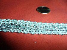 "Vintage SIlver Metallic Braid - 1/2"" wide"