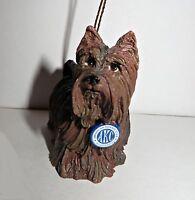 NEW AKC 2004 Dog Yorkshire Terrier Figurine Christmas Tree Ornament
