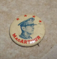 Vintage 1948 Rare 4 Star General MacArthur Presidential Campaign Pin