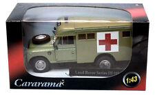 LAND ROVER SERIES S3 109 ARMY AMBULANCE - 1:43 Diecast 4x4 Car Model - Cararama