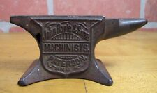 Antique JOHN ROYLE & SONS MACHINISTS PATERSON NJ Sm Cast Iron Advertising Anvil