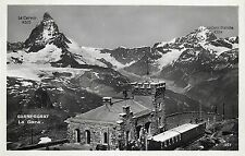 GORNERGRAT Le gare Train Station Switzerland Le Cervin & Dent Blanche peaks
