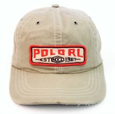 Vintage POLO by Ralph Lauren RL Leather Strapback Hat / 1967 Beach NYC X Cap...
