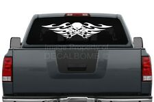#003 TRIBAL SKULL w/Crossed Wrench decal sticker rzr diesel vinyl turbo 35 X 8""