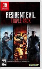 Resident Evil Triple Pack: Resident Evil 4, 5 and 6 [Nintendo Switch 3 Pack] NEW