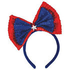 Amscan Star Spangled Fourth of July Party Patriotic Bow Headband, Multi