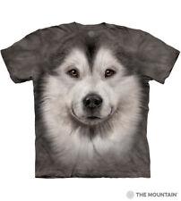 The Mountain 100% Cotton Kid's T-Shirt Youth Tee Alaskan Malamute Face L NWT