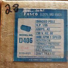 Fasco D406 1/55 HP 230 V  60HZ  3000 RPM 1 SPEED CW ROTATION