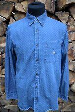 Ralph Lauren Denim & Supply Faded Denim Polka Dot Western Shirt Med