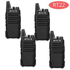 4*Retevis RT22 WalkieTalkie Superdünn 16 Kanäle UHF Funkgerät CTCSS/DCS Scan USB