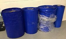 4x Big Blue Builders Plastic Roll Tube Sheeting Thick Material Decorator Painter