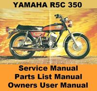 YAMAHA R5 350 RD350 R5C Owners Workshop Service Repair Parts Manual PDF on CD-R