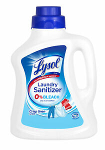 Lysol Laundry Sanitizer Crisp Linen, Eliminates Odors & Kills Bacteria, 90 oz ✔️
