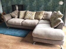 fabric corner sofa used
