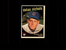 1959 Topps 362A Dolan Nichols RC with Option Line EX #D474101