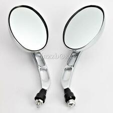 Oval Rearview Mirrors For Honda Shadow Rebel 250 500 750 1100 VTX VT 1300 1800 C