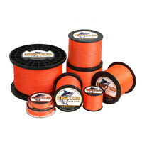 Hercules 4 8 9 12 Strands 6-300lbs 109-2187yds PE Braided Fishing Line Orange