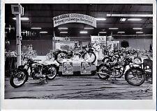 vintage large photo FN Liege motor bike cycle moto Roeselare Belgium foto 1953