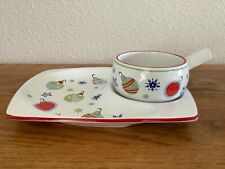 """Pfaltzgraff� Taffy Candy Christmas, Soup & Sandwich or Chip & Dip Plate-New/Box"