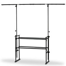 More details for vonyx 180.048 4ft dj deck stand with lighting rig
