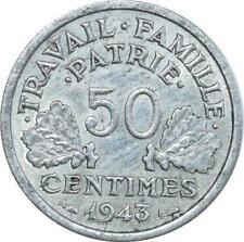 O8955 50 Centimes Françisque Bazor 1943 B Beaumont le Roger TTB+