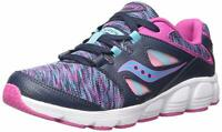 Kids Saucony Boys Kotaro 4 Low Top Lace Up Walking Shoes, Navy/Multi, Size 3.0 1