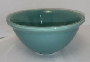 """Vintage Weller Pottery Turquoise Mixing Bowl 6 1/4"""""""