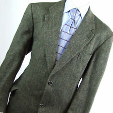C&A Mens Brown Herringbone Wool Suit Jacket 44 (Regular)