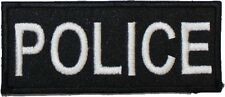 Police Badge Embroidered Patch Hook & Loop 9cm x 4cm