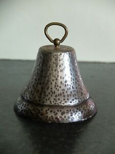 Mid 20th Century ironmongers white metal and brass shop counter hand bell