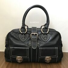 Pre Owned Authentic MARC JACOBS Black Leather Handbag / Shoulder Bag