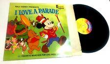 Walt Disney Presents I love A Parade Favorite Marches For Children Lp Good