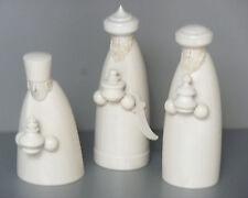 Krippenfiguren, Heilige 3 Könige, weiß lasiert, Orig. Handwerkskunst/Erzgebirge