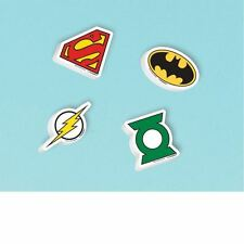 12 DC Comics Justice League Children's Party Favours Loot Gifts Rubbers Erasers