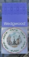 """1982 Wedgewood Christmas Queens Ware Collectible Plate """"Piccadilly Circus"""""""