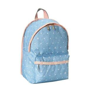 LeSportsac Classic Collection SM Hollis Backpack in Denim Dot NWT
