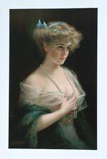 Semi Nude Woman VICTORIAN Lady Art Print -BERNHARD ZICKENDRAHT Girl BELLE PEARLS