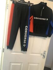 Boys Converse Tracksuit red blue black 8-10 years jogging bottoms jumper