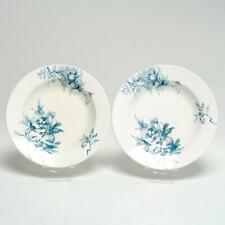 "Pair (2) Royal Doulton'S Arundel Burslem 9"" Blue/White Rimmed Soup Bowls"