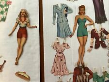 Vintage 1945 Lana Turner cut out 2 paper dolls and many clothes