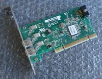 Dell 2-Port Firewire IEEE-1394 PCI Adapter Card F4582 / Adaptec AFW-2100/Dell