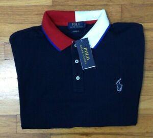 Polo Ralph Lauren Men's XL Polo Shirt Short Sleeve Red White Navy Blue