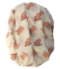 Piglet Scarf Ladies Pink Baby Pig Oinker Farm Animal Muddy Puddle Quality Wrap