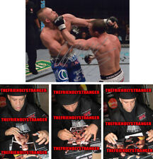 "WANDERLEI SILVA signed Autographed ""UFC"" 8X10 PHOTO L PROOF - The Axe Murder COA"