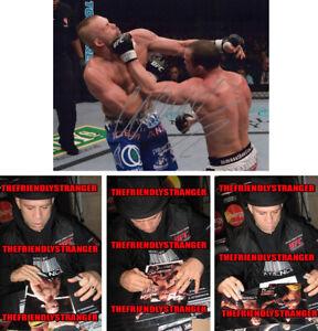 "WANDERLEI SILVA signed Autographed ""UFC"" 8X10 PHOTO L PROOF - The Axe Murder COA"