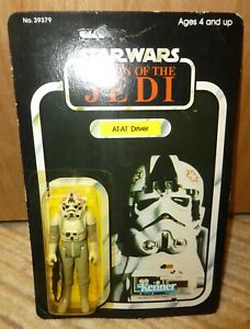 Star Wars At At Drive Carded New Return Jedi Vintage 1983 figure unpunched