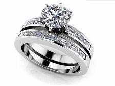 SALE!! WEDDING ENGAGEMENT RING Baguette Bridal Set Diamond Ring 14K GOLD